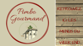 MENUS DU WEEK END